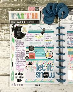 'Let It Snow' weekly layout in The Happy Planner™ of mambi Design Team member Mary-Ann Maldonado   me & my BIG ideas