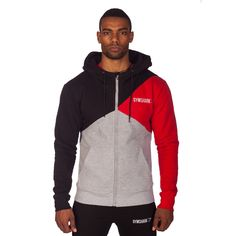 GymShark Fit Tri-Panel Thermal Hoodie - Red All men's wear Fitness Wear, Mens Fitness, Red Hoodie, Hoodie Jacket, Gym Wear, Workout Wear, Nike, Sportswear, Stylish Clothes