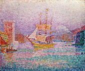 Harbour at Marseilles, c.1906, by Paul Signac