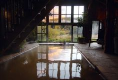 Dunton Hot Springs in Colorado. A restored ghost town (eek!), tucked behind a valley, cozy cabins, a spa, hot springs AND you can reserve the whole town for 42 friends! That's how small it is! Unreal.