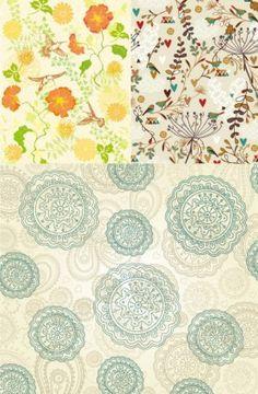3 beautiful pattern vector background