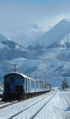 TranzAlpine Train, South Island, New Zealand.