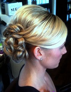 Bridal Hair Updo. #haircassiewebb, #updo, #brockcassidiesalon