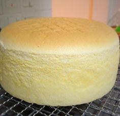 Bizcocho de ligero de mantequilla y vainilla