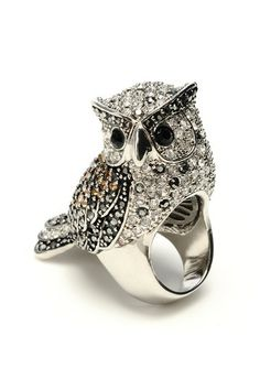 Crystal Owl Ring