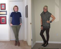 What We Wore: Short Sleeved Sweaters - Two Take on Style