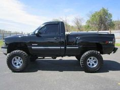 My old chevy, it's old, but it still runs good. Lifted Cars, Lifted Chevy Trucks, Classic Chevy Trucks, Gm Trucks, Chevrolet Trucks, Cool Trucks, Pickup Trucks, Classic Cars, Silverado Single Cab