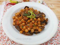 Aleda konyhája: Gombás csicseriborsó főzelék Sweet And Salty, Chana Masala, Ethnic Recipes, Food, Meal, Essen