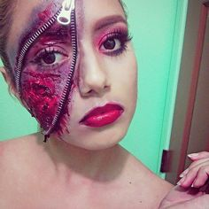 Zipper Makeup Looks Guaranteed to Freak Everyone Out This Halloween