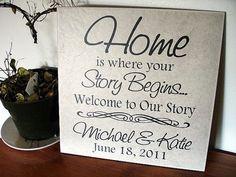 Personalized Ceramic Tile Wedding by SaidInStoneOnline on Etsy, $28.00