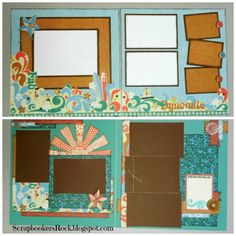 layouts by Mary Thompson using CTMH Surf's Up paper