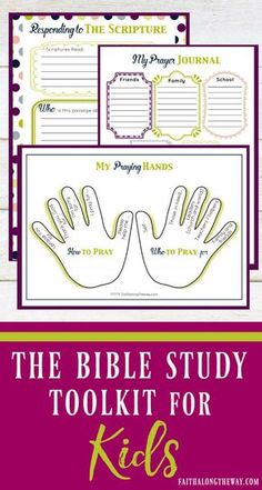 Make Bible study FUN for kids and SIMPLE for moms!  The 20+ page Bible Study Toolkit for Kids is the perfect way to make Scripture come alive for your kids and help lay a firm foundation of faith. (aff).