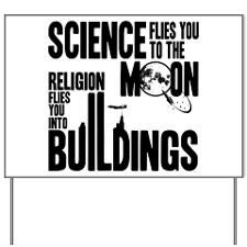 Shop Anti Religious Yard Signs from CafePress. Our Yard Signs are printed on both sides & made for sturdy easy ground mounting. Religion Posters, Science Vs Religion, Lawn Sign, Facts, Signs, Shop Signs, Sign, Signage, Dishes