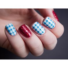 Costume Nails Dorothy from The Wizard of Oz via Polyvore featuring beauty products and nail care