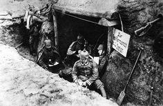WWI, German field telephone post.