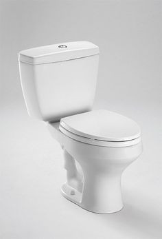 Toto CST405MF#01 Cotton Rowan 1.0 and 1.6 GPF Two Piece Round Toilet less Seat - FaucetDirect.com