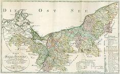 Landkarte des Herzogtums Vor- und Hinterpommern aus dem Jahr 1794, Sotzmann