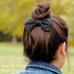 BOWS....the other love of my life. Oreo Bow (Black and white polka dots). $4.75, via Etsy.