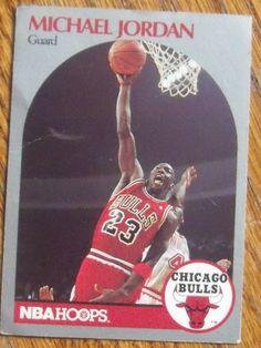 Michael Jordan 1990-1 NBA Hoops Card # 65, Sports Memorabilia :: Cards :: Basketball Cards :: Bullszi.com