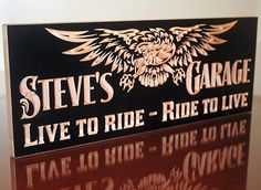 Motorcycle Signs Boyfriend Gift Ideas by BenchMarkCustomSigns