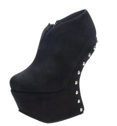 Couture Round Toe Rivets Zippered Suede Ankle Boots