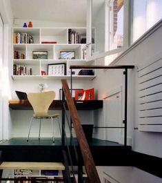Εντυπωσιακά και μοντέρνα γραφεία στο σπίτι | Otherside.gr (16) Office Interior Design, Office Interiors, Interior Design Inspiration, Office Designs, Design Ideas, Small Space Staircase, Staircase Landing, Small Apartments, Small Spaces