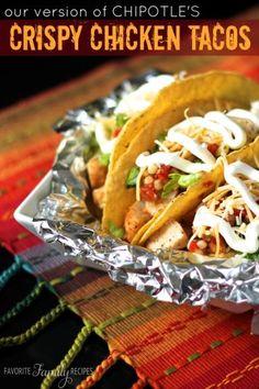 Chipotles Crispy Chicken Tacos