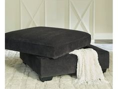 Charenton - Charcoal - Ottoman With Storage by Signature Design by Ashley. Get your Charenton - Charcoal - Ottoman With Storage at Sav-On Furniture Mart, St. Ottoman In Living Room, Chair And Ottoman, City Furniture, Online Furniture, Furniture Mattress, Charcoal Sectional, Oversized Ottoman, Queen Sofa Sleeper, Chair And A Half
