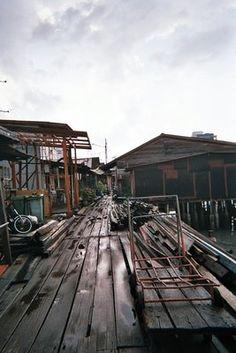 Chinese fishing village, Penang, Malaysia.