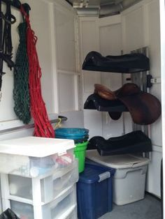 What you can (and shouldn't) store in your trailer!   http://www.proequinegrooms.com/index.php/tips/equipment-and-tack/your-trailer-as-storage/
