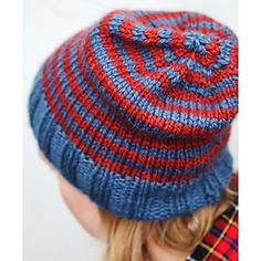 Free beanie pattern. Greta's Tundra Hat. 2 color striped hat knit in Tundra. Webs Yarn Store Free Pattern