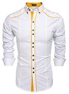 547a1304da1 Coofandy Men s Button Down Dress Shirts Casual Slim Fit Measurements  b br  for choosing proper size