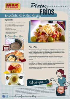 Para comer... ¡una ensalada de brotes de soja bien fresquita! #Receta #InfoReceta #Gastronomia
