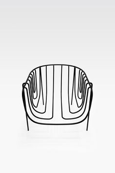 thin black lines chair nendo