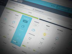 Enterprise Weather App UI designed by Michael Pons for PG. Connect with them on Dribbble; Web Dashboard, Ui Web, Dashboard Design, App Ui Design, Chart Design, User Interface Design, Design Patterns, Enterprise Portal, Pick Your Poison