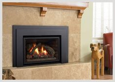 Regency Liberty™ This direct vent insert offers a timeless charm that co… - Wood Burning Fireplace Inserts Rustic Fireplaces, Gas Fireplace, Wood Burning Fireplace Inserts, Gas Insert, Wood Pellets, Wood Logs, Real Wood, Hearth, Regency