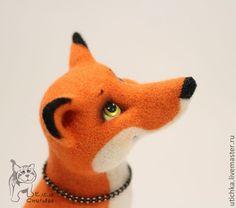 Лисенок Пайк. - рыжий,лис,лисенок,лисица,валяный лисенок,игрушка из шерсти
