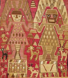 The annual AOA (Africa, Oceana and the Americas) Tribal Art Fair takes place 14 - 18 May 2014 on the Upper East Side, New York. Arte Tribal, Tribal Art, Monkey Wallpaper, Peruvian Art, Peruvian Textiles, Medieval Tapestry, Inca, Naive Art, Tapestry Weaving