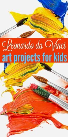 Leonardo da Vinci Art Projects for Kids - a collection of fabulous project ideas for kids to paint and sketch just like Leonardo da Vinci and other Renaissance artists. Idea for homeschool art.