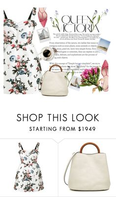 """Без названия #57"" by kristi-alexandrova ❤ liked on Polyvore featuring Valentino, Marni, Victoria Beckham, Polaroid and Kate Spade"