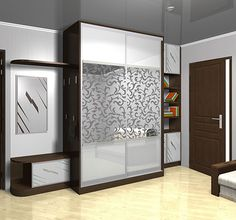 نتيجة بحث الصور عن ‪glass wardrobe door designs for bedroom indian‬‏ Glass Wardrobe Doors, Wardrobe Door Designs, Wardrobe Design Bedroom, Master Bedroom Interior, Bedroom Furniture Design, Wardrobe Closet, Sliding Wardrobe, Closet Doors, Bad Room Design