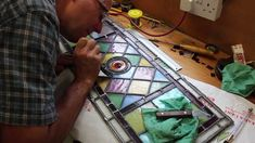 How to Restore a Stained Glass Window, I ll have to repair them in the spring.