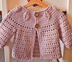 Crochet PATTERN Falling Leaves Cardigan sizes baby up to 8