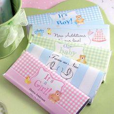 Como hacer invitaciones de chocolates para Baby Shower   Home Manualidades