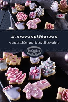 Zitronenplätzchen Lemon cookies: beautifully and lovingly decorated cookie cutters with a delicate lemon scent Lemon Biscotti, Biscotti Recipe, Lemon Cookies, Cake Cookies, Baking Recipes, Cookie Recipes, Winter Desserts, Christmas Baking, Christmas Cookies