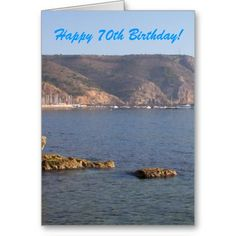 #Ocean #70th #Birthday Greeting #Card