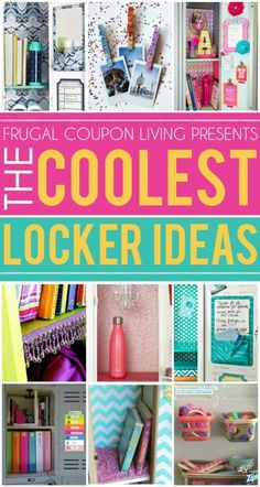 Best Diy Crafts Ideas For Your Home : Fun and creative locker ideas for the coolest kid in the hall. School locker org