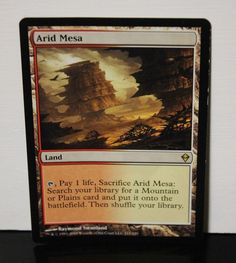 Arid Mesa Magic The Gathering MTG Trading Card #WizardsoftheCoast White Plains, Collectible Cards, Wizards Of The Coast, Magic The Gathering, Mtg, Trading Cards, Collector Cards