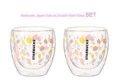 2015 Japan Starbucks Sakura Cherry Blossom Double Well Glass 250ml 2ea  #Starbucks