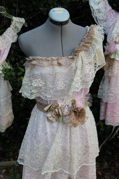 My favorite dress so far. Tea Party Bridesmaid Dress- One shoulder Ruffled. $130.00, via Etsy.